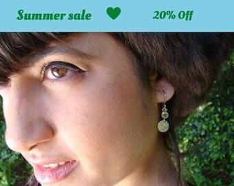Peridot Earrings, silver earrings, delicate earrings, peridot gemstone Earrings, dangle earrings, silver jewelry, earrings for girls, dainty