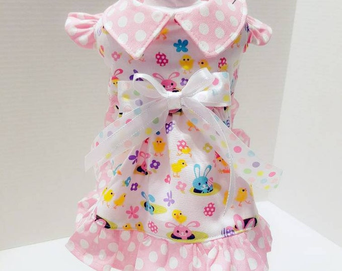 Featured listing image: Easter Small Dog dress/Easter Pet Dress/Easter  Dress