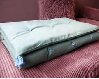 Boho style turquoise sofa topper