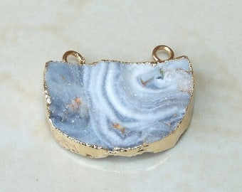 Galaxy Stone, Druzy Pendant, Quartz Druzy Pendant.  Agate Druzy Pendant - 20mm x 30mm - 180