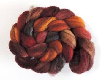 Shetland multicolor,Spice Market, 120g top, Kammzug, handgefärbte Fasern zum Spinnen und Filzen