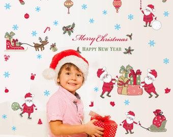 Santa, Sleigh & Presents (cartoon style) - AW9099