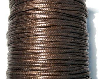 15ft Coffee Brown Korea Wax Polyester Cord Bracelet Necklace Cord 2mm