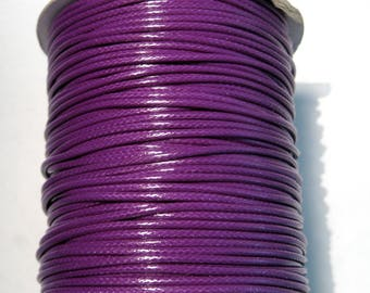 15ft Purple Korea Wax Polyester Cord Bracelet Necklace Cord 2mm(No.127)