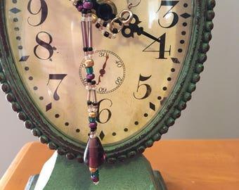 Purple Teardrop Necklace & Earring Set