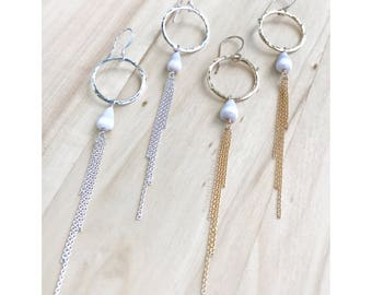 READY TO SHIP - Cone Shell Tassle Earrings - Gold Shell Tassle Earrings - Silver Shell Tassle Earrings - Shell Earrings