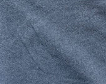 Fabric - French terry - cotton/elastane denim blue - stretch/knit fabric