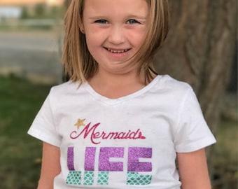 Mermaid Life Shirt - Girls