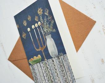 "Christmas Card, Watercolor Christmas Card, Illustrated Christmas Card, Illustrated Holiday Card, Watercolor Stationery, Christmas, 4""x6"""