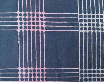 1/2 Yard Chroma Handcrafted Batik Plaid in Shadow from Andover designed by Alison Glass 8132-C