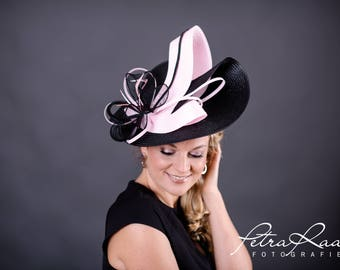 U75 hat Royal Ascot hat Ballhut Kentucky Derby has horse racing couture Millinery Sinamay has wedding fascination