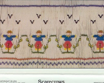 Scarecrows Smocking Plate