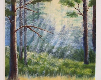 Sun Streams Original Landscape Painting