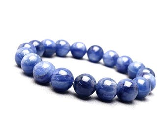 8mm Kyanite Bracelet, Natural Kyanite Bracelet, Blue Kyanite Bracelet, Kyanite Beads Bracelet, Blue Beaded Bracelet Mens, Women Bracelet