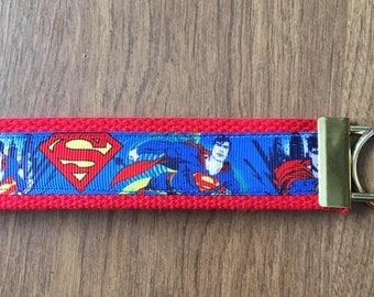 Superman Key Chain Wristlet Zipper Pull