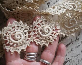 4 yards antique lace trim, Edwardian