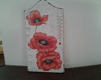 Thermometer inside poppy pattern