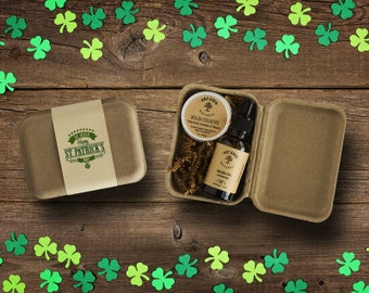 Saint Patrick's Day Gifts for Him Solid cologne and beard oil/balm, Gift for him, Boyfriend gift. husband gift, Co worker gifts