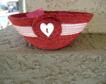 Valentine Candy Coiled Fabric Bowl #205