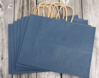 100 Pack Navy Blue Gift Bags/Wedding Welcome Bags