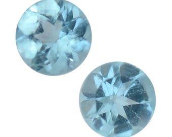 Paraiba Apatite Loose Set of 2 Gemstones Round Cut 1A Quality 2.5mm TGW 0.10 cts.