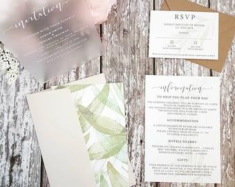 Bespoke Perspex Wedding Invitation Set