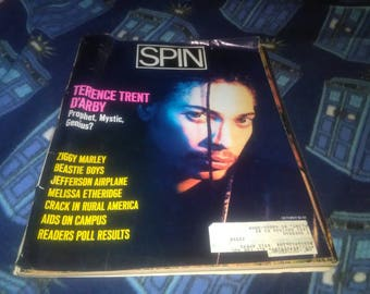 Vintage SPIN Magazine Terence Trent D' Arby cover October 1989 Ziggy Marley Beastie Boys Music Memorabilia collectible issue