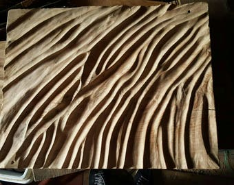 """Sandscapes """"Arrakis"""" 18×14 inch Sculpted wall hanging in English Ash"""