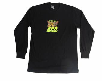 APA Worldwide | 2018 Cat Logo Long sleeve - relaxing graphic t-shirt for holiday and every day