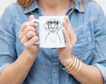 Walter the Weimaraner - Gifts For Dog Owner, Dog Lover, Dog Mug, Dog Mug, Dog Wearing Glasses, Cool Dog Mug