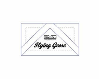 "Bloc Loc Flying Geese 1"" x 2"" finished ruler"