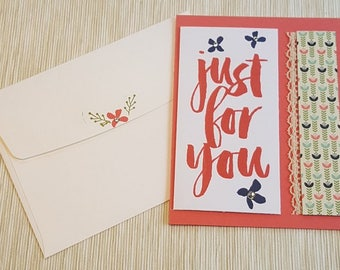 Handmade Stampin' Up! Just for You - Friendship, Thank You, Just Because Card