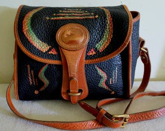 """Genuine Dooney And Bourke Leather Handbag, """"Just Ducky"""", Hand Painted, One of a Kind"""