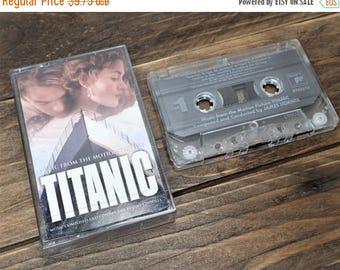 SALE Vintage Music Cassette Tape, Titanic Soundtrack Cassette Tape,  Soundtrack Music Cassette Tape, Celine Dion, Movie Soundtrack Tape - 19