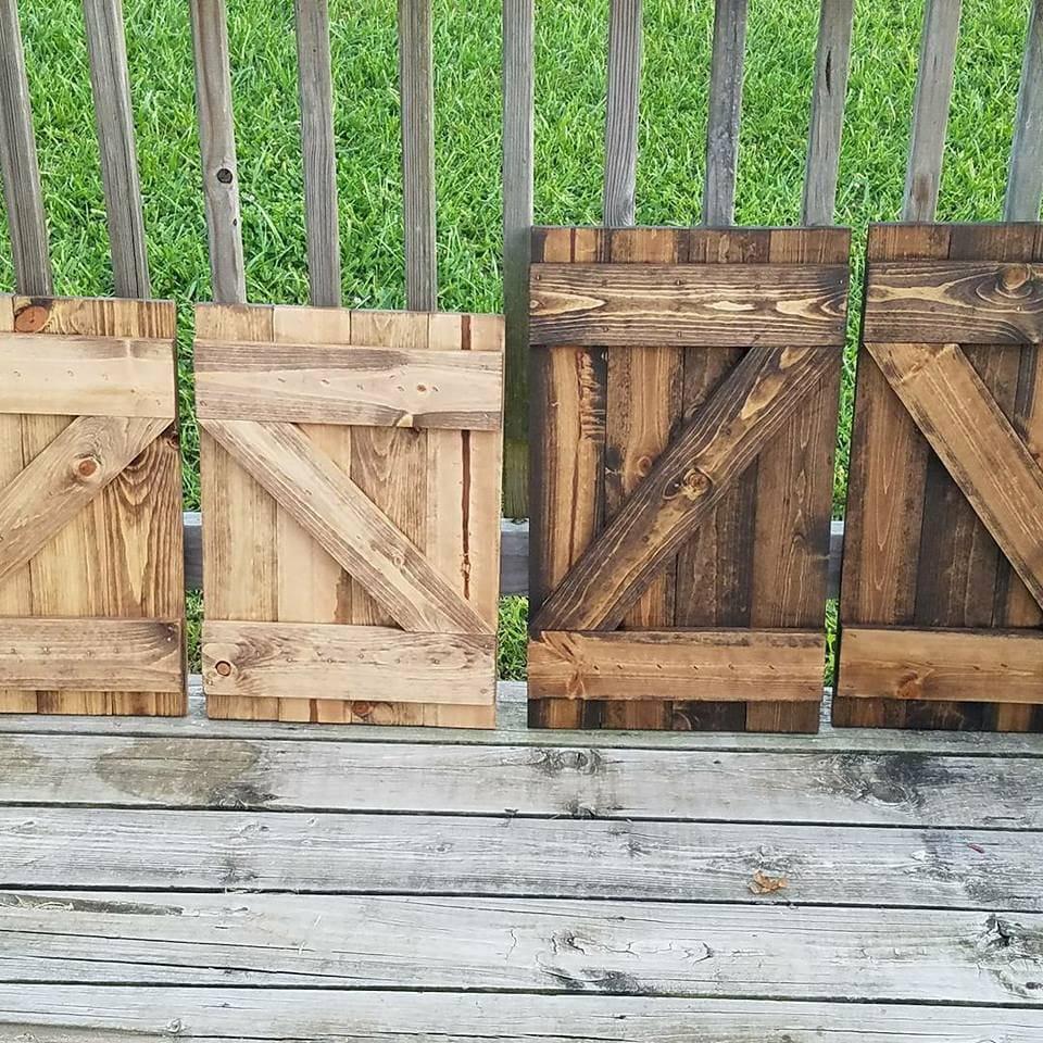 Pair Of Rustic Wood Shutters   Wall Decor   Barn Door   Farmhouse Decor    Farm