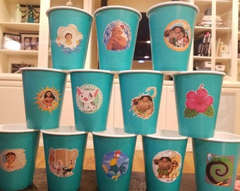 Moana Party Cups