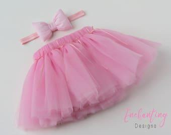 Pink Ballet Tutu, Pink Tutu, Girl's Tutu, Girl's Petticoat, Tutu Skirt, Pink Skirt, Pink Petticoat, Baby Tutu, Birthday Tutu, Tutu Set