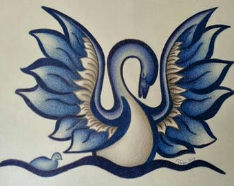 Blue swan - MADE TO ORDER