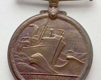 WWI British Mercantile Marine War Medal, Named