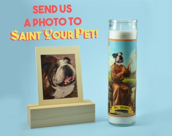 Pet Customized Prayer Candle - Funny Pet Gift - Dog Lover Gift - Dog Saint Candle - Saint Your Pet - Pet Worship - Cat Lover Gift