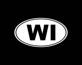 Wisconsin Decal, WI State Decal,Wisconsin State Decals,Wisconsinites Stickers Vinyl Die-Cut Car Decals,Home State Decals