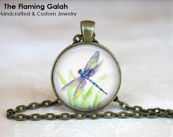 DRAGONFLY Pendant •  Blue Dragonfly •  Mystical Dragonfly •  Green Dragonfly •  Dragonfly Art • Gift Under 20 • Made in Australia (P1473)