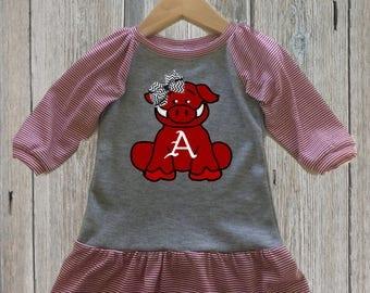 Baby Razorback Gameday Dress