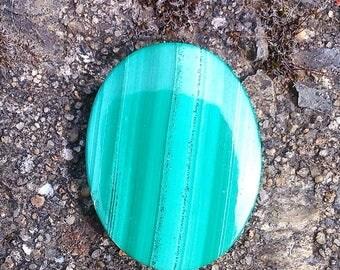 1 MALACHITE 22.5x17x4mm cabochon semi precious stone