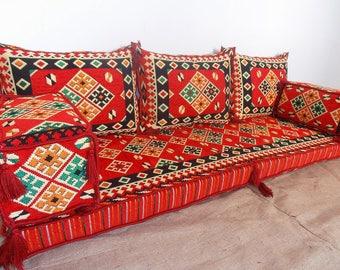 Oriental Floor Seating, Arabic Style Majlis Floor Sofa Set, Floor Couch,  Floor Seating