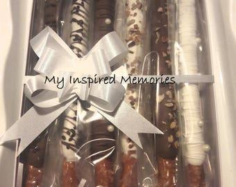 Gourmet chocolate covered pretzels box, chocolate covered pretzel gift box