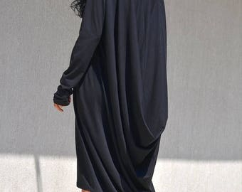 SALE 25% OFF NEW Black Dress / New plus size Dress /  Party  Dress  / Evening Dress /Drape dress