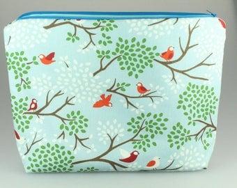 Song Bird Zip Bag/ Pouch
