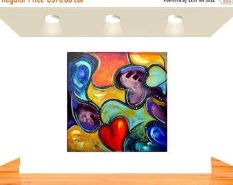 ON SALE Original modern abstract art painting wall art canvas acrylic artwork painting canvas one of a kind artwork red heart painting free