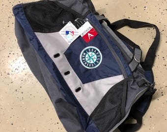Vintage MLB Seattle Mariners New With Tags Gym Duffel Bag 20x12x12